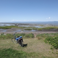 Biking Along St-Lawrence River, Québec