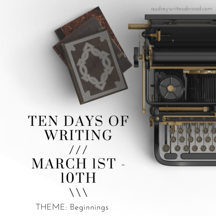 Ten days of writing